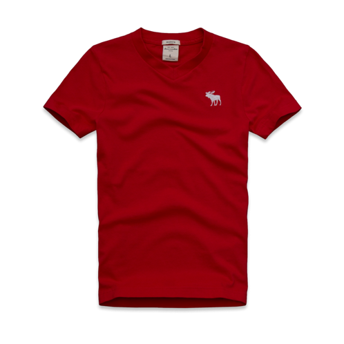 guys solid short sleeve v-neck tee