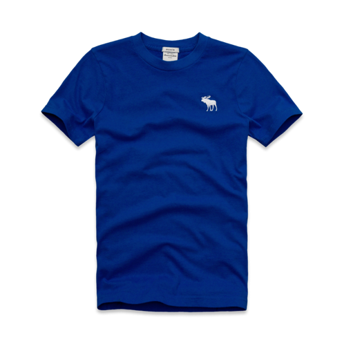 guys solid short sleeve crew tee