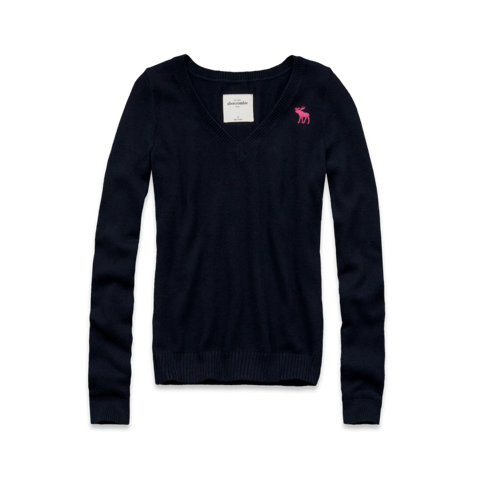 girls classic v-neck sweater
