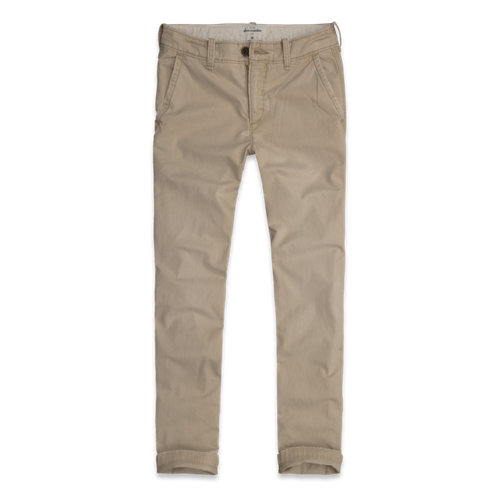 bottoms a&f slim straight chinos