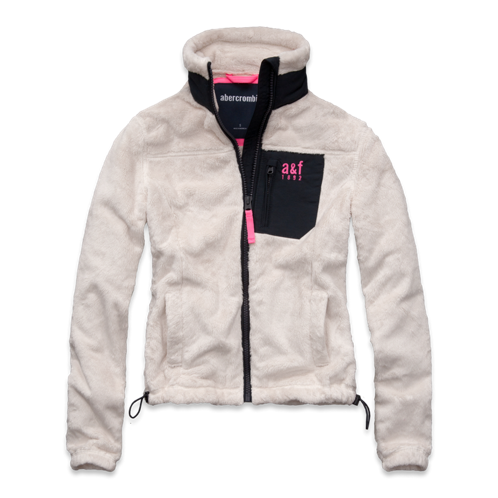girls a&f mountain fleece jacket