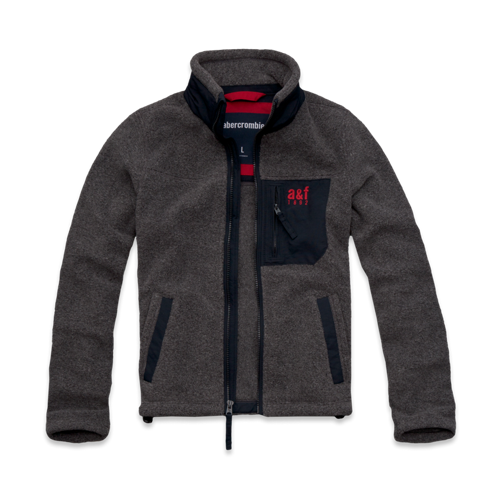guys a&f mountain fleece jacket