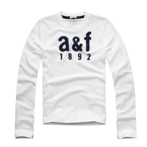 guys logo long sleeve graphic tee