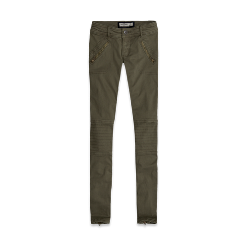girls a&f military pants