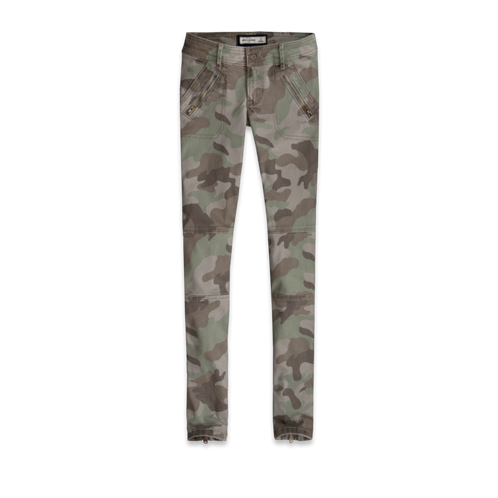 girls a&f camo military pants