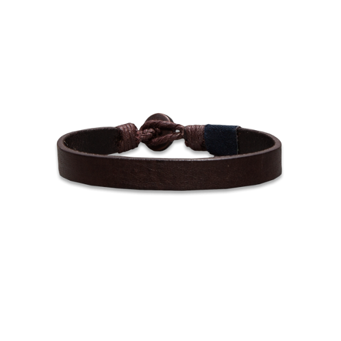 guys classic leather bracelet