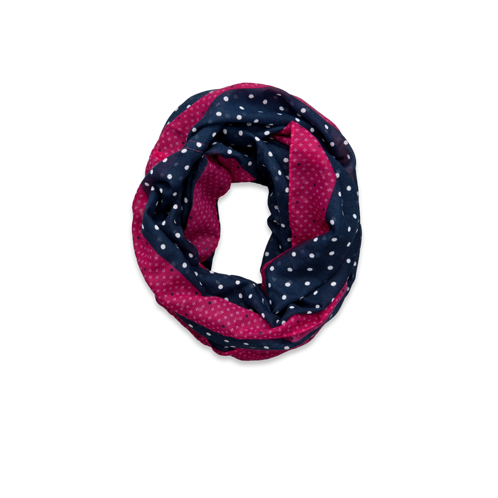 girls contrast color dots scarf