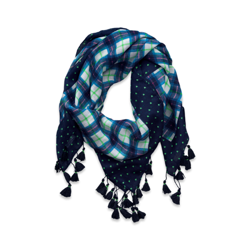 girls cute plaid scarf