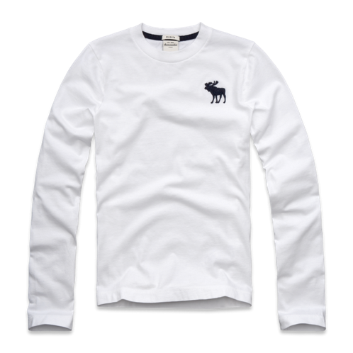 guys solid long sleeve tee