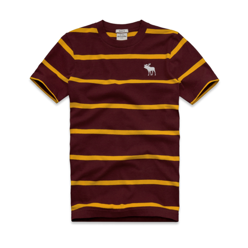 featured items striped crew tee