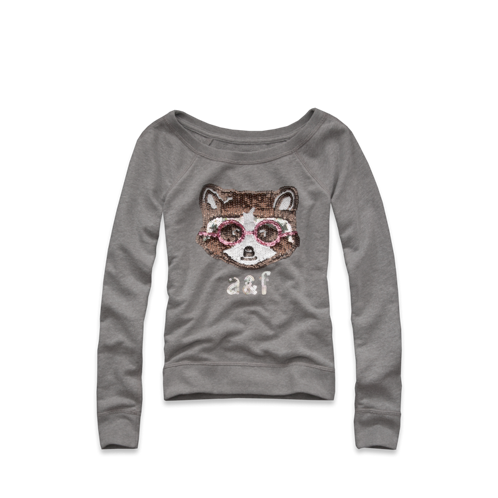 girls cute animal shine sweatshirt