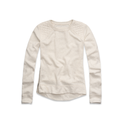 girls quilted sweatshirt