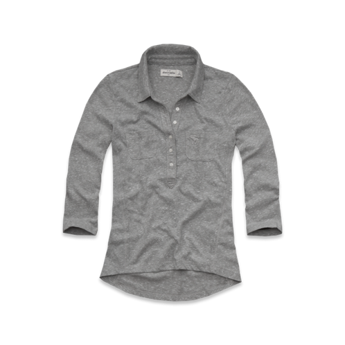 tops knit popover shirt