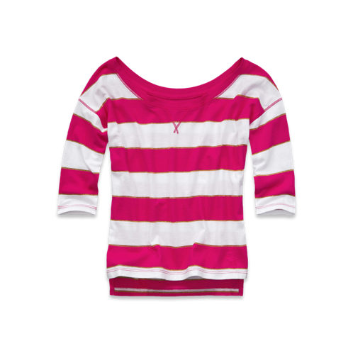 girls rugby striped shine tee