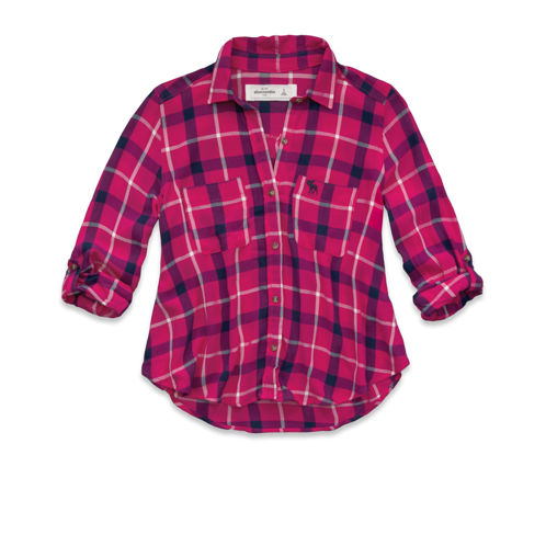 girls plaid shirt