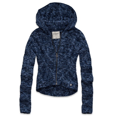 girls marled hooded sweater