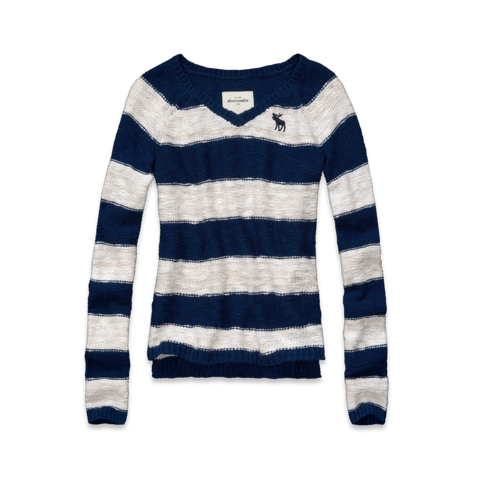 girls striped shine sweater