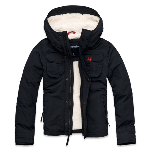 guys sherpa-lined nylon jacket