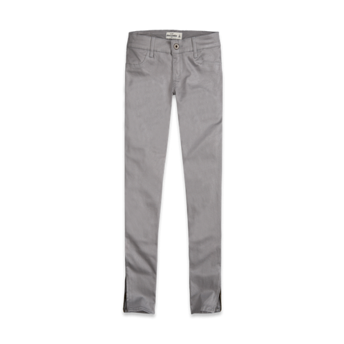 a&f shine coated jeggings