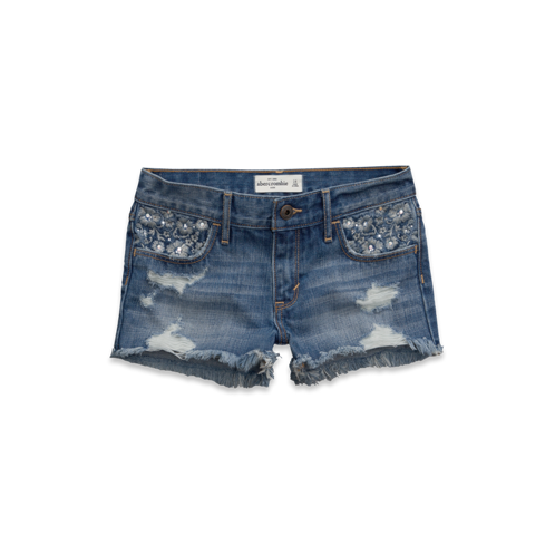 featured items a&f high rise shorts