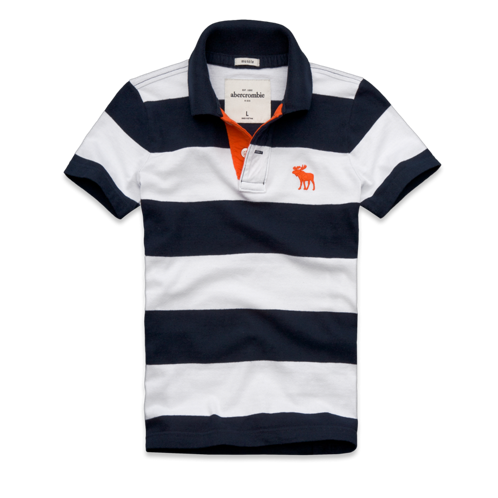 boys contrast placket striped polo