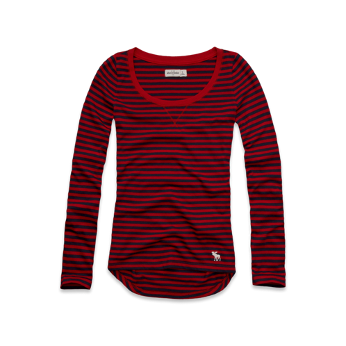 girls long sleeve striped tee