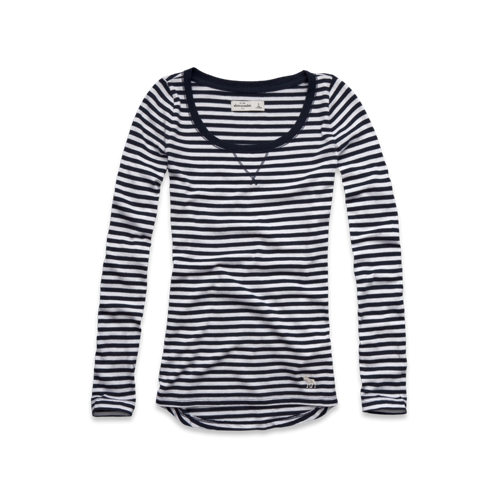 featured items long sleeve striped tee