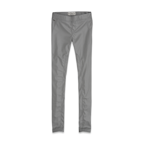 pants a&f vegan leather jeggings
