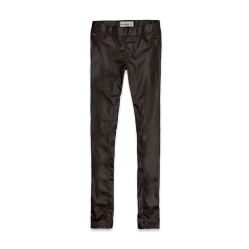 girls a&f vegan leather jeggings