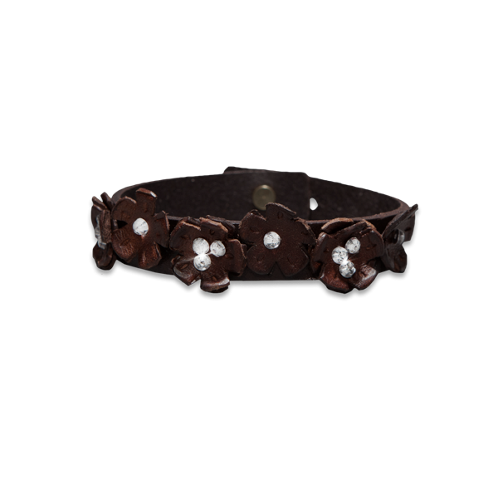 accessories flower leather bracelet