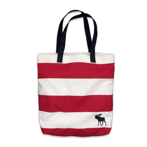 girls striped tote bag