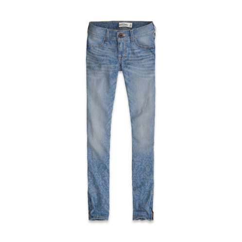 girls a&f super skinny ankle jeans