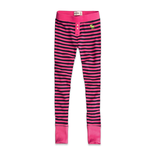 sleep striped sleep leggings