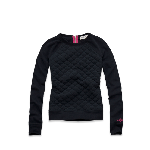 girls quilted cozy fleece sweatshirt
