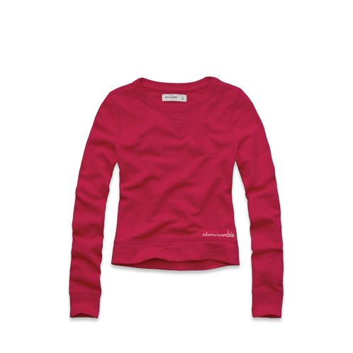 girls chiffon back sweatshirt