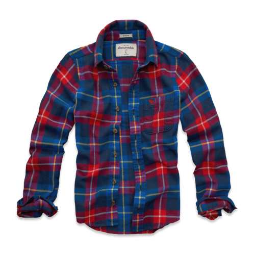 tops plaid flannel shirt