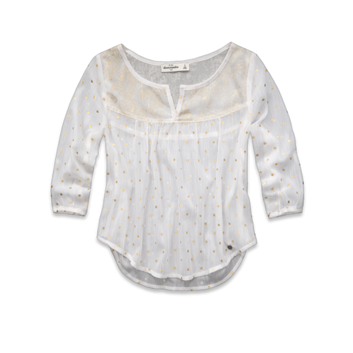 girls shimmering shine top