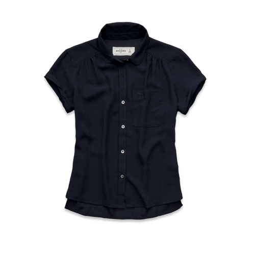 girls solid short sleeve shirt