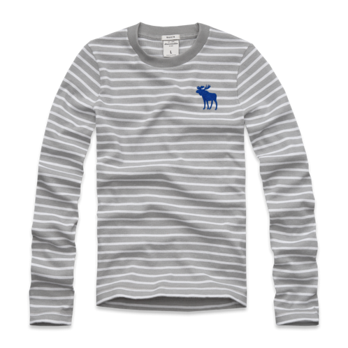 guys long sleeve striped tee