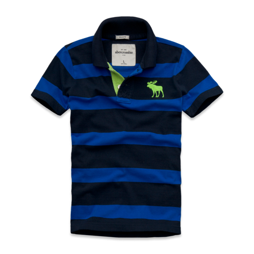 tops contrast placket striped polo