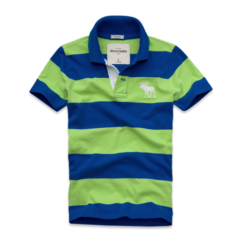 guys contrast placket striped polo