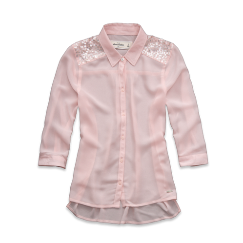 girls pretty chiffon shirt