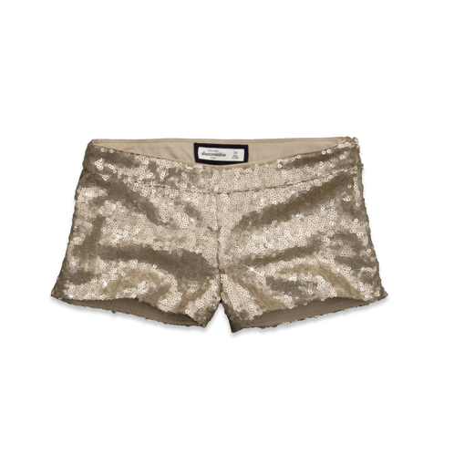 girls gold sequin shorts