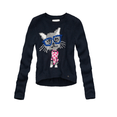 girls cute intarsia sweater