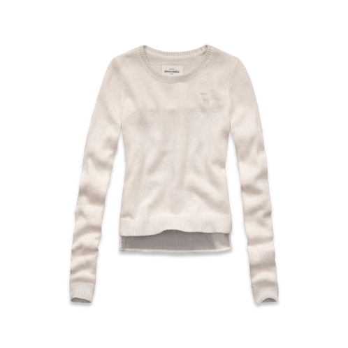 girls chiffon back sweater