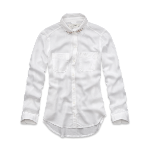 featured items embellished collar shirt