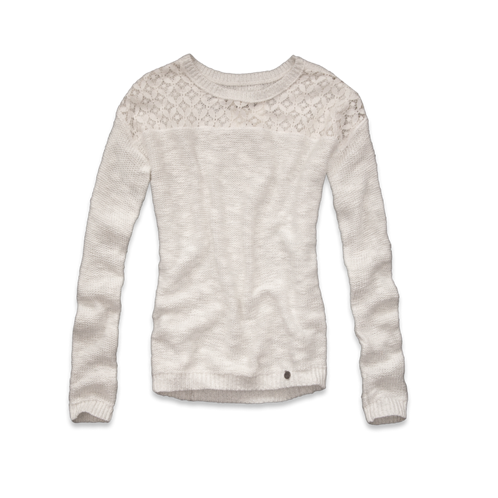 girls lace & shine sweater