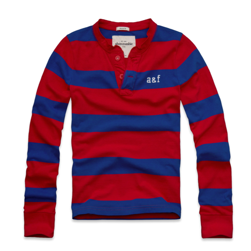 guys rugged stripe henley