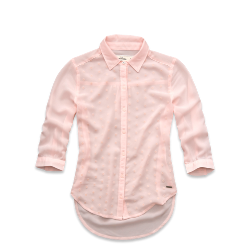 girls velvet dot chiffon shirt