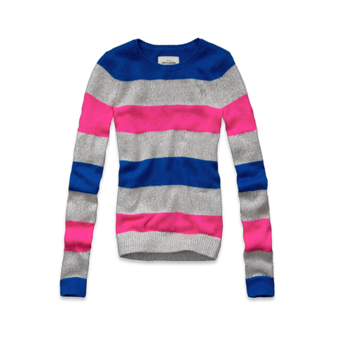 shine striped crew sweater